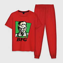 Пижама хлопковая мужская BFG цвета красный — фото 1