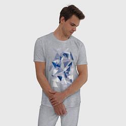 Пижама хлопковая мужская Частицы цвета меланж — фото 2