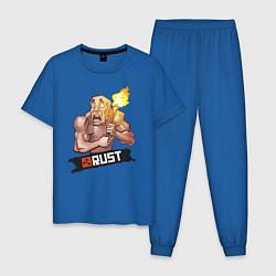 Пижама хлопковая мужская Rust цвета синий — фото 1