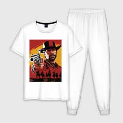 Пижама хлопковая мужская Red dead redemption 2 цвета белый — фото 1
