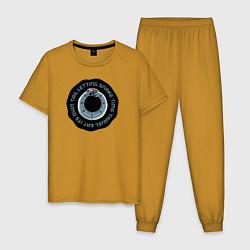 Пижама хлопковая мужская SNAKE TIME цвета горчичный — фото 1