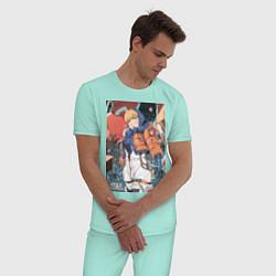 Пижама хлопковая мужская Apex Legends Wattson цвета мятный — фото 2