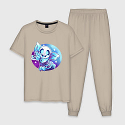 Пижама хлопковая мужская UNDERTALE цвета миндальный — фото 1