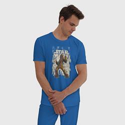 Пижама хлопковая мужская Chewie цвета синий — фото 2