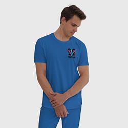 Пижама хлопковая мужская TikTok цвета синий — фото 2