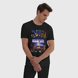 Пижама хлопковая мужская ROBLOX цвета черный — фото 2
