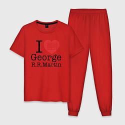 Пижама хлопковая мужская I Love George Martin цвета красный — фото 1