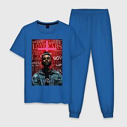 Пижама хлопковая мужская The Weekend цвета синий — фото 1