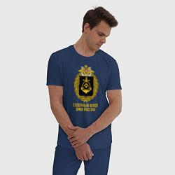 Пижама хлопковая мужская Северный флот ВМФ России цвета тёмно-синий — фото 2