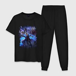 Пижама хлопковая мужская DEVIL MAY CRY цвета черный — фото 1