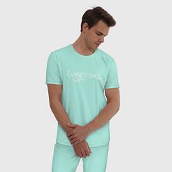 Пижама хлопковая мужская Evanescence цвета мятный — фото 2