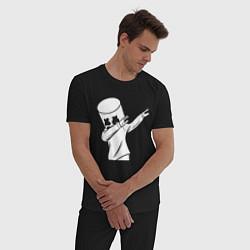 Пижама хлопковая мужская MARSHMELLO DAB цвета черный — фото 2
