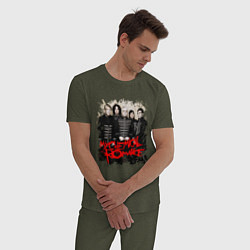 Пижама хлопковая мужская My Chemical Romance цвета меланж-хаки — фото 2