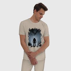 Пижама хлопковая мужская ВЕДЬМАК цвета миндальный — фото 2