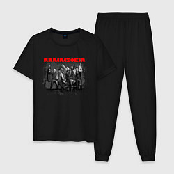 Пижама хлопковая мужская RAMMSTEIN цвета черный — фото 1