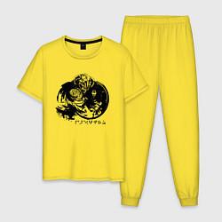 Пижама хлопковая мужская THE ELDER SCROLLS цвета желтый — фото 1