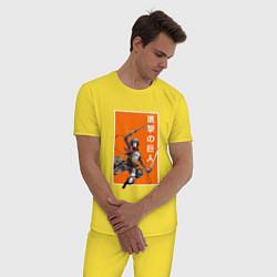 Пижама хлопковая мужская Атака Титанов цвета желтый — фото 2