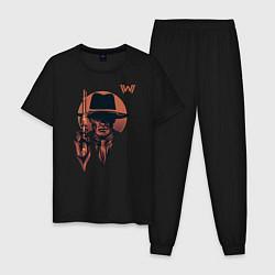 Пижама хлопковая мужская Man in Black цвета черный — фото 1
