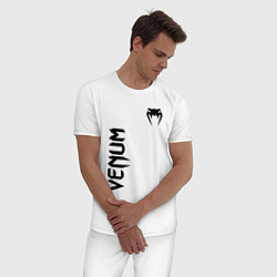 Пижама хлопковая мужская VENUM цвета белый — фото 2
