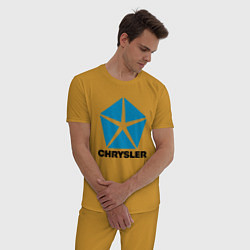 Пижама хлопковая мужская Chrysler цвета горчичный — фото 2