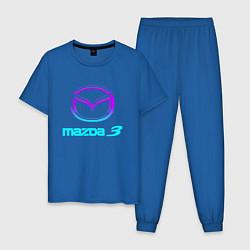 Пижама хлопковая мужская MAZDA цвета синий — фото 1