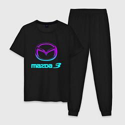 Пижама хлопковая мужская MAZDA цвета черный — фото 1