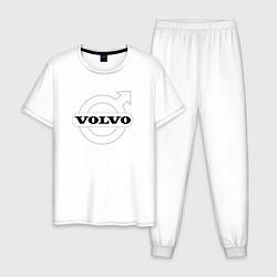 Пижама хлопковая мужская VOLVO цвета белый — фото 1