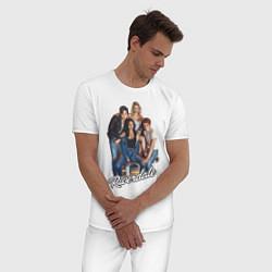 Пижама хлопковая мужская Riverdale heroes цвета белый — фото 2