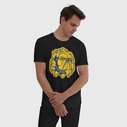 Пижама хлопковая мужская GO BULLDOGS цвета черный — фото 2