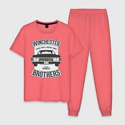 Пижама хлопковая мужская Impala Winchesters цвета коралловый — фото 1