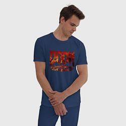Пижама хлопковая мужская DOOM Eternal цвета тёмно-синий — фото 2