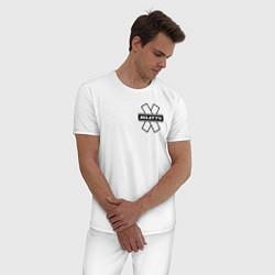 Пижама хлопковая мужская NILETTO цвета белый — фото 2