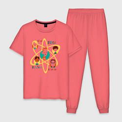 Пижама хлопковая мужская Big Bang Theory цвета коралловый — фото 1