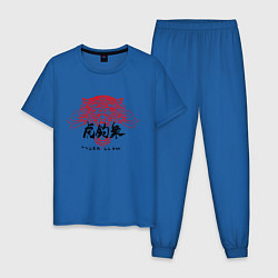 Пижама хлопковая мужская CYBERPUNK TYGER'S CLAW цвета синий — фото 1