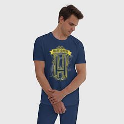 Пижама хлопковая мужская Гарри Поттер цвета тёмно-синий — фото 2