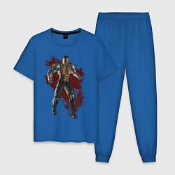 Пижама хлопковая мужская Jax цвета синий — фото 1