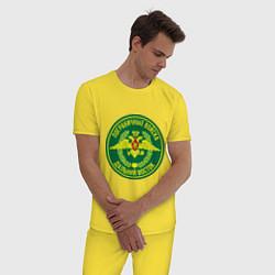 Пижама хлопковая мужская ПВ: Дальний восток цвета желтый — фото 2