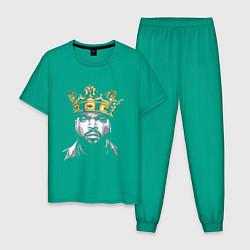 Пижама хлопковая мужская Ice Cube King цвета зеленый — фото 1
