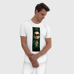Пижама хлопковая мужская Leonard цвета белый — фото 2