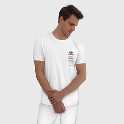 Пижама хлопковая мужская SUBARU MONSTER ENERGY Z цвета белый — фото 2
