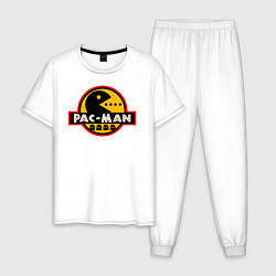 Пижама хлопковая мужская PAC-MAN цвета белый — фото 1