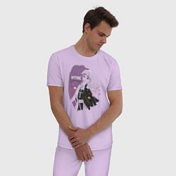 Пижама хлопковая мужская Холодное сердце цвета лаванда — фото 2