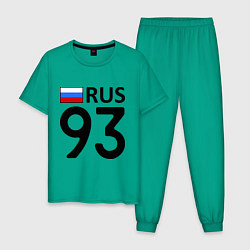 Пижама хлопковая мужская RUS 93 цвета зеленый — фото 1