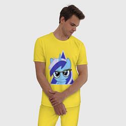 Пижама хлопковая мужская Trixie hipster цвета желтый — фото 2