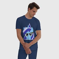 Пижама хлопковая мужская Trixie hipster цвета тёмно-синий — фото 2