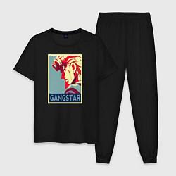 Пижама хлопковая мужская GANSTAR цвета черный — фото 1
