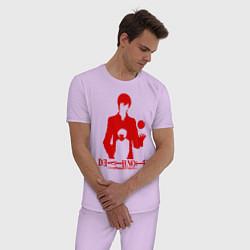 Пижама хлопковая мужская Death Note цвета лаванда — фото 2