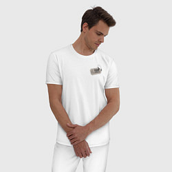 Пижама хлопковая мужская Donald цвета белый — фото 2