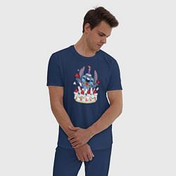 Пижама хлопковая мужская День рождения цвета тёмно-синий — фото 2