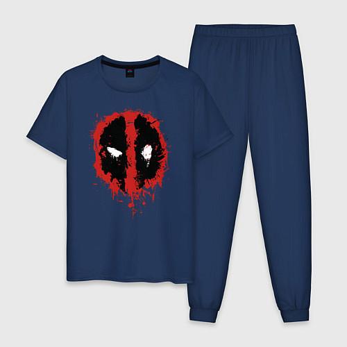 Мужская пижама Deadpool logo / Тёмно-синий – фото 1